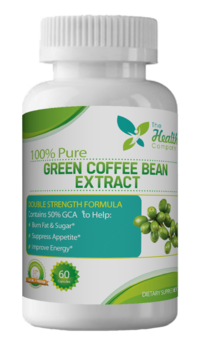 Green coffee bean extract by Health Company, A Name You Can Trust. Double strength formula guaranteed pure and potent.
