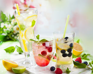 Make water irresistible with fresh fruit and herbs.